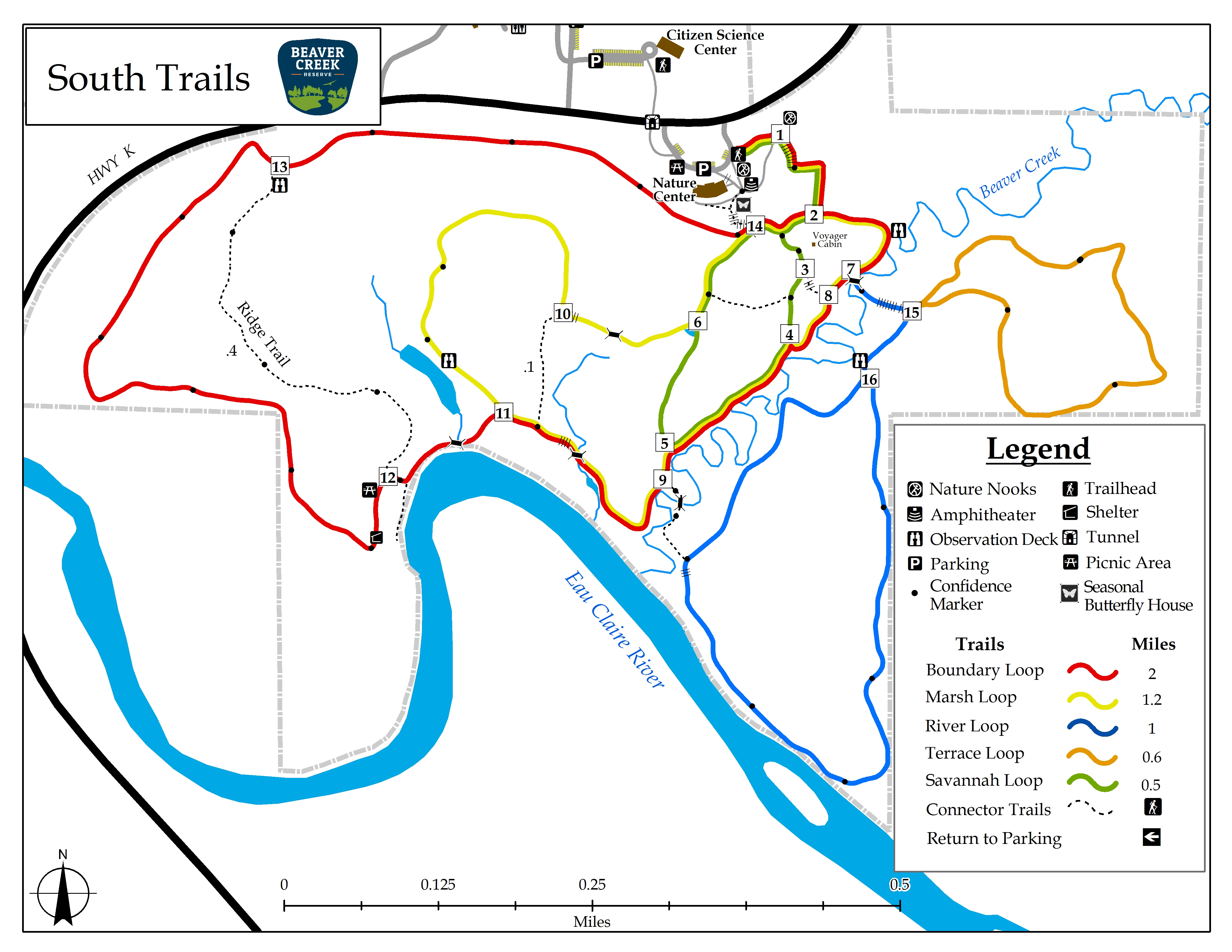 Trails Maps At Beaver Creek Reserve Wisconsin Nature Reserve - Beavercreek trail map