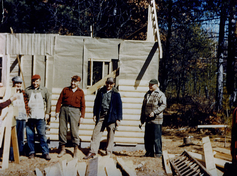 Building a cabin in 1953