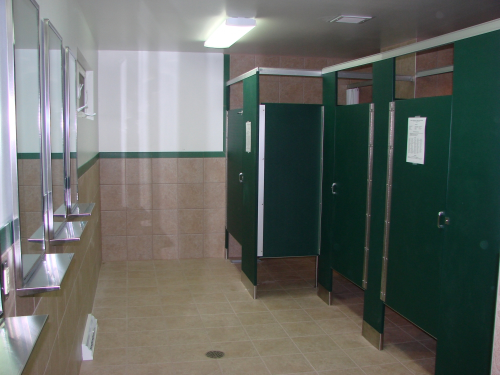 Shower House interior